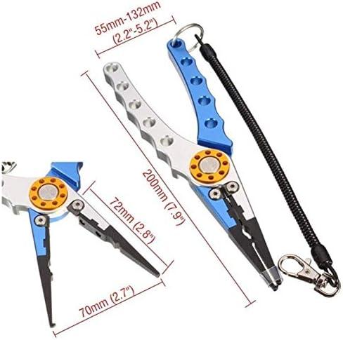 YKJ-YKJ プライヤーハンドツール、7.9インチの魚プライヤーツールがプライヤーラインツールアルミニウム釣りリムーバーフックタックル ペンチ