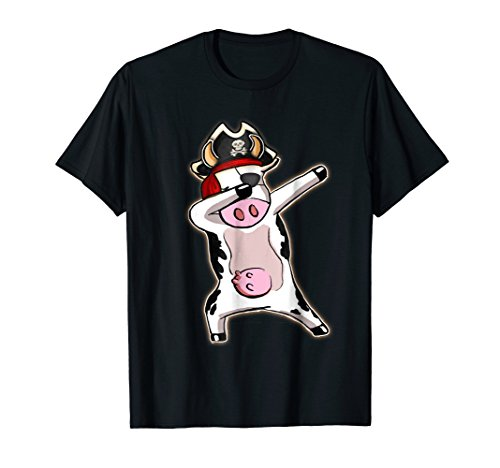 Funny Cow Dabbing Pirate Halloween Costume Gift T -
