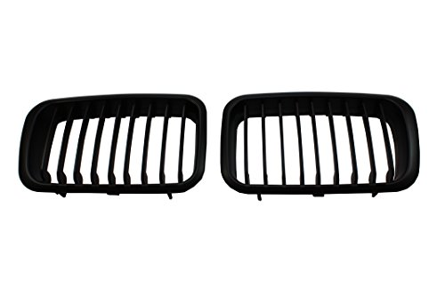 B2 UPDATED E36 MATTE BLACK PERFORMANCE KIDNEY GRILLE GRILL BMW 318 325 M3 1992-1996