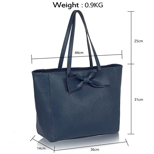 50 Tote Bow Navy SAVE Tie DELIVERY Bag FREE Gorgeous UK azwPxFa