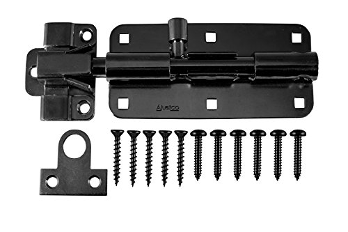 - AjustLock 8 Inch Barrel Bolt, Extra Heavy Duty Lock (Zinc Black)