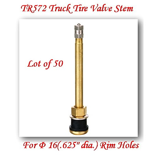 (Lot of 50) TR572 Truck Tire Valve Stem Wheels 22.5/24.5 For Rim Φ.625''.Holes L:4'' by VPro