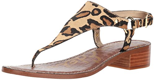 Sam Edelman Women's Jude Heeled Sandal, New Nude Leopard, 8 M ()