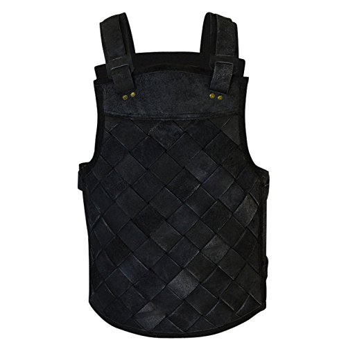 Armor Venue - RFB Viking Leather Armor - Adjustable Body Armour for Men and Women Black X-Large