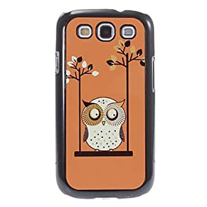 LZX Swinging Owl Pattern Aluminum&Plastic Hard Back Case Cover for Samsung Galaxy S3 I9300