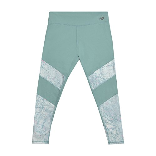 New Balance Girls' Little Performance Tight, Mineral sage/Marble, 6 ()