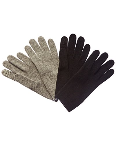 Portolano Womens Set Of 2 Cashmere Tech Gloves, Set_Of_2 (Portolano Womens Cashmere)