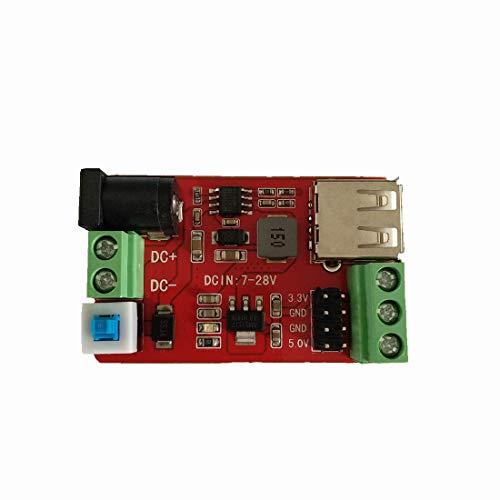 - Abovehill DC-DC Buck Converter 7-28V to 3.3V 5V Step-Down Power Module Reverse Short Circuit Protection Multiple Port Outputs