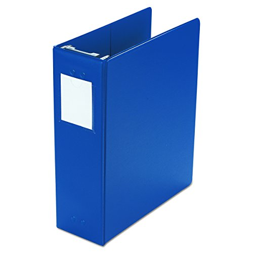 Wilson Jones 36549BL Large Capacity Hanging Post Binder, 3-inches Cap, Blue (Vinyl Capacity Large Hanging)