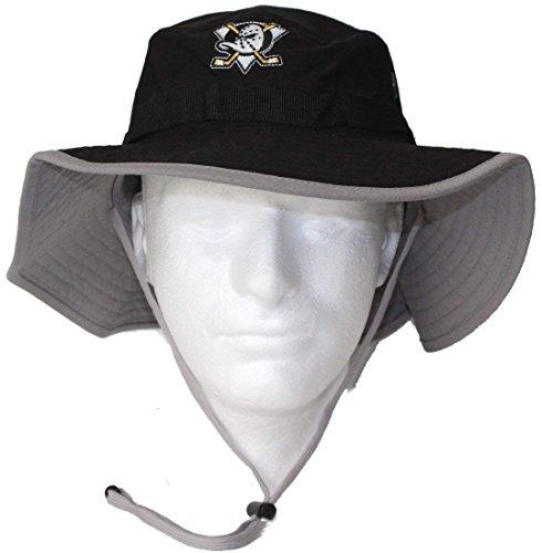 Mitchell & Ness Anaheim Ducks NHL Vintage Boonie Black Bucket Hat (L/XL) ()