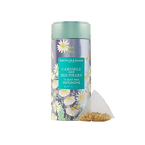 Bee Pollen Blend (Fortnum & Mason British Tea, Camomile & Bee Pollen Infusion Tin, 15 Silky Tea bags (1 Pack) NEW Product ID41SD - USA Stock)