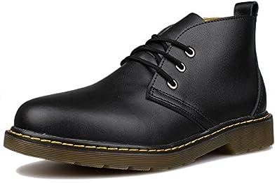 Amazon.com   Kunsto Men's Distressed Leather Ankle Chukka Boots ...