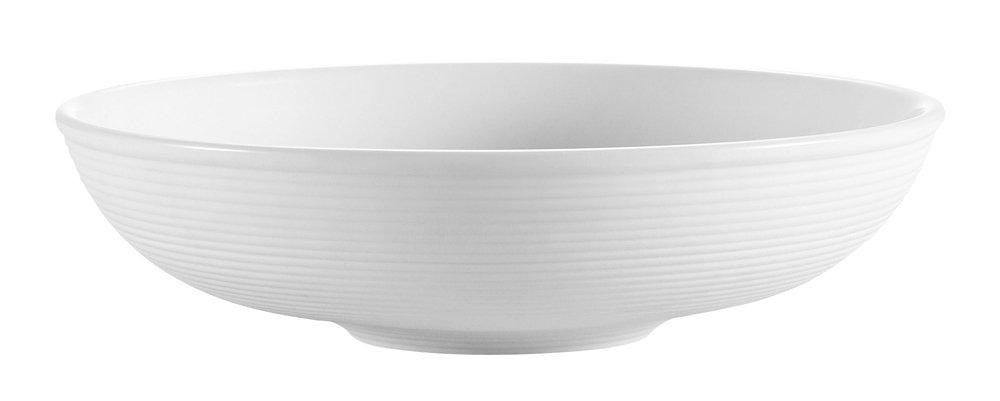 CAC China TST-80 Transitions 7-1/2-Inch 16-Ounce Non-Glare Glaze Super White Porcelain Salad Bowl, Box of 24