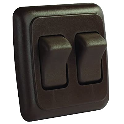 JR Products 12145 Brown Double SPST On-Off Switch with Bezel: Automotive