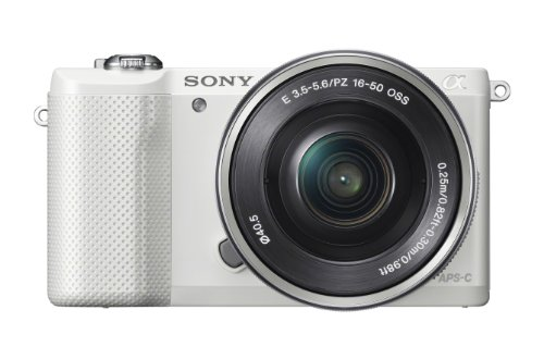 Sony Alpha a5000 Mirrorless Digital Camera with 16-50mm OSS Lens (White) by Sony