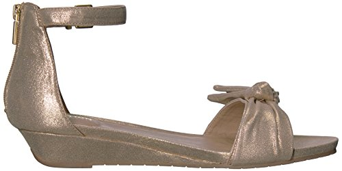 Start Great Detail Metallic Soft Low Bow Sandal Wedge REACTION Kenneth Gold Women's Cole W0FISI