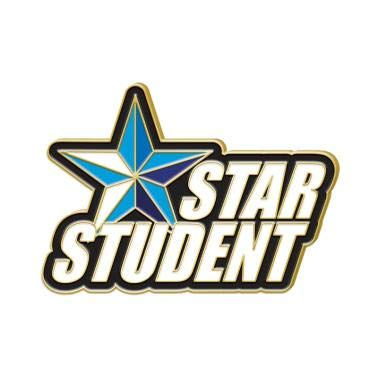 (Crown Awards Star Student Lapel Pins - Blue Star Student Recognition Award Pins 20 Pack Prime)
