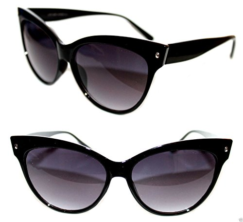 tani Fashion Celebrity Designer Retro Vintage Modern Chic Sunglasses (Black, Black) ()