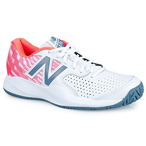 New Balance Women's 696v3 Hard Court Tennis Shoe, White, 9 D US