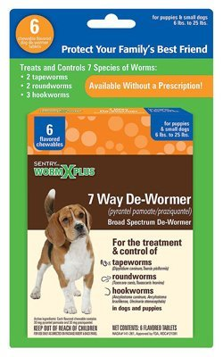 Sergeants Pet Care - Sergeant's Pet Care Products Worm x Plus 7 Way De-Wormer Small Dog 6Ct