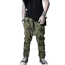 Changeshopping Boy Baggy Harem Pants Kids SweatPants Joggers Elastic Bottoms
