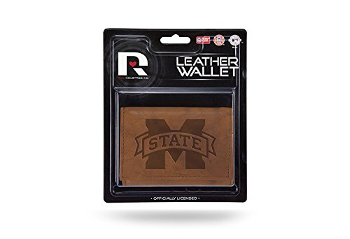 Rico NCAA Mississippi State Bulldogs Leather Trifold Wallet with Man Made Interior by Rico