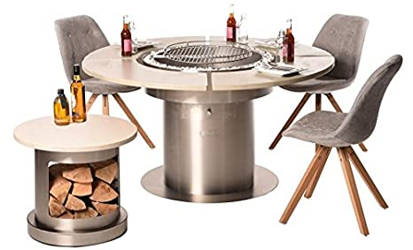 Table à manger - Barbecue braséro 3 en 1 - Fabriqué en ...