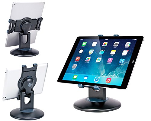"Business Retail Tablet Stand, 360° Rotation iPad Business Stand for Most 7.9"" -13"" Tablet, Swivel Design Perfect for Commercial Store Office Showcase POS Reception Kitchen Countertop, Black"