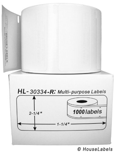 6 Rolls; 1,000 Labels per Roll; DYMO-Compatible 30334-R REMOVABLE Multipurpose Labels (2-1/4