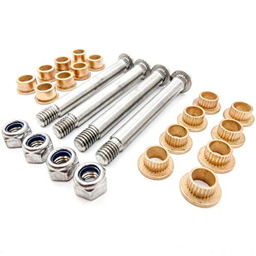 THREEMOM Hinge Pin and Bushing Repair Kit Fit Ford Lincoln Mercury Front Door 4 pin 2 ()