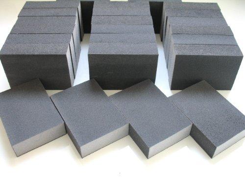 16 x Fine Wet and Dry Abrasive Blocks Flexible Foam Sandpaper Sanding Blocks / pads Grit 180 / 220 (16 blocks) DOMS DIY DIRECT