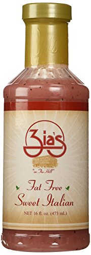 Zia's Fat-Free Sweet Italian Oil & Vinegar Salad Dressing, 16 Ounce Bottle