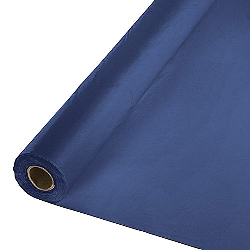 40 X 100 Ft Plastic Heavy Duty Banquet Roll Navy Blue by Tablemate