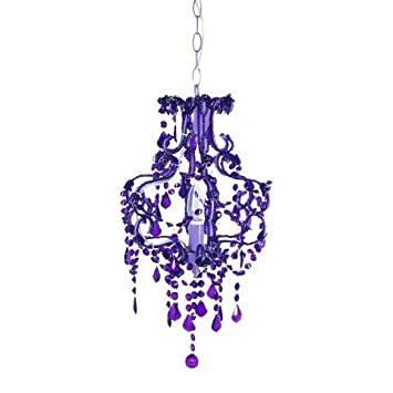 Art Deco Lampara de Techo Barroco Violeta 40 cm: Amazon.es ...