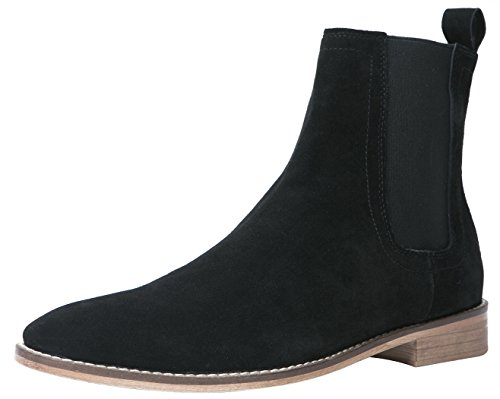SANTIMON Chelsea Boots Men Suede Casual Dress Boots Ankle Boots Formal Shoes Black 11 D(M) US - Leather Formal Ankle Boot