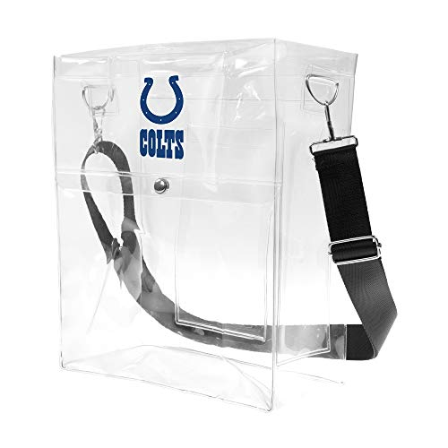 Littlearth NFL Indianapolis Colts Unisex Nflnfl Ticket Satchel, Clear, 12