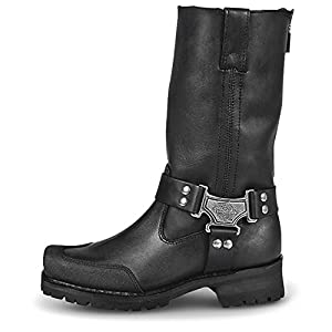 Milwaukee Motorcycle Clothing Company Men's Drag Harness Motorcycle Boots (Size 8.5)
