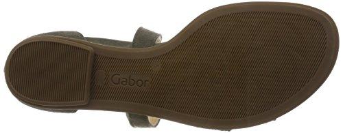 Verde Sandali Caviglia Gabor Con oliv Cinturino Donna Alla Fashion 0Ffpfqx5
