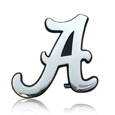 University of Alabama Chrome Metal Car Emblem (Alabama Metal)