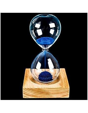 Zyhlf Madera Vidrio Hierro Polvo Arena Hierro floración magnética Reloj 13,5 * 5.5 cm