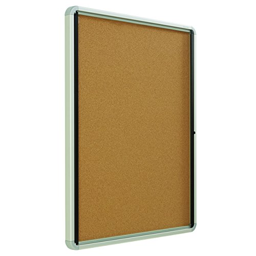Quartet Enclosed Cork Bulletin Board, 30'' x 39'' or 9 Sheets, Swing Door, Aluminum Frame (EIHC3930) by Quartet