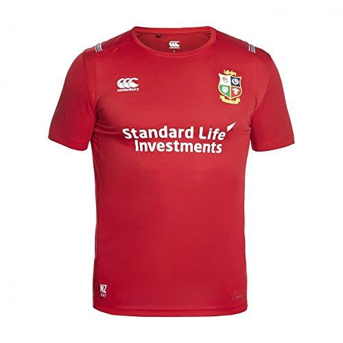 c450a596671 Canterbury British and Irish Lions Rugby Vapodri Superlight Tee - Youth - Tango  Red - Age 13-14