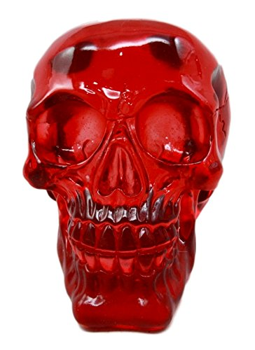Ebros Gift Occultic Witchcraft Shrine Bloody Red Acrylic Resin Translucent Voodoo Skull Decorative Figurine 6