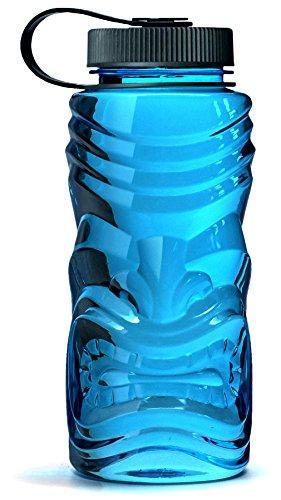Kona Tiki Hawaiian Sports Water Bottle - Premium High Quality Wide Mouth Leak Proof - Non-Toxic BPA / BPS Free & Eco-Friendly - 30oz / (Aloha Island Island Breakfast)