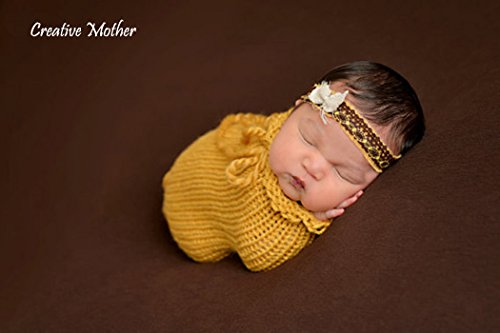 Costume Corona (Creative Mother Christmas Cocoon Sleeping Bag for Newborn Boy Girl Cotton Knitted Crochet Photography Prop)