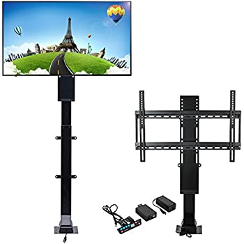 Mophorn tv lift mechanism 110v adjustable tv for Motorized vertical tv lift