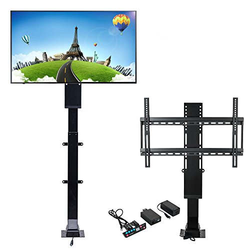 Mophorn Motorized TV Lift Flat TV 1000mm TV Lift Mechanism Auto Lifting Adjustable Height with Wireless RF Remote Controller for Plasma LCD LED TV and Monitors ()