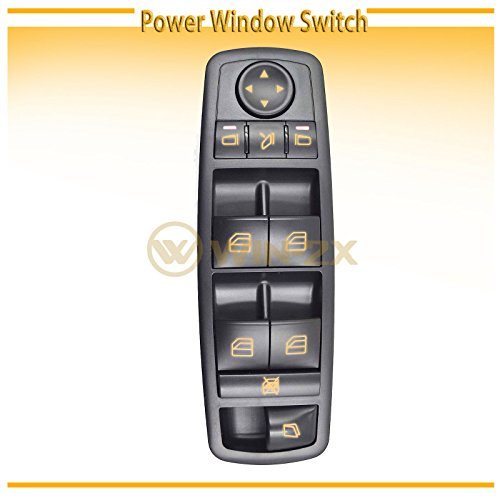 (WIN-2X New 1pc Black Housing Power Window Master Control Switch Fit Mercedes-Benz 07-12 X164 GL-Class 06-13 W251 R-Class 06-11 W164 ML-Class With Power Folding Mirrors & Electric Hinge Windows)
