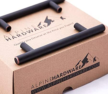 Alpine Hardware 25 Pack ~ 2 Length Fine-Brushed Satin Nickel Finish Solid Steel T-Knob Pull