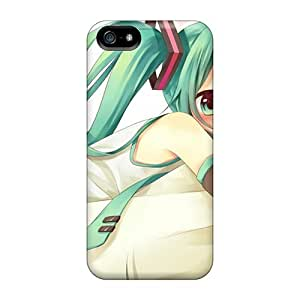 New CVs360rfKD Hatsune Miku Blue Eyes Skin Case Cover Shatterproof Case For Iphone 5/5s